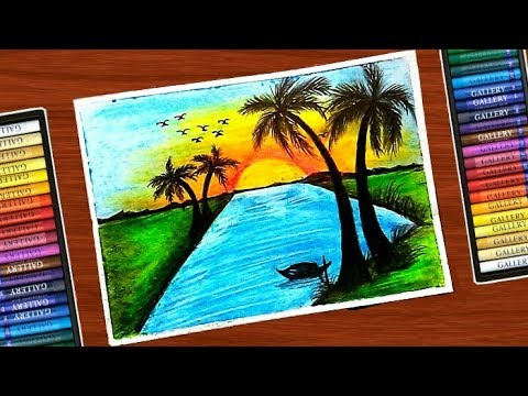 Early Morning River At Village Scenery Drawing With Oil Pastel Step By Step Very Easy Tutorial Youtube How to draw scenery of morning in village for kids step by step. early morning river at village scenery drawing with oil pastel step by step very easy tutorial