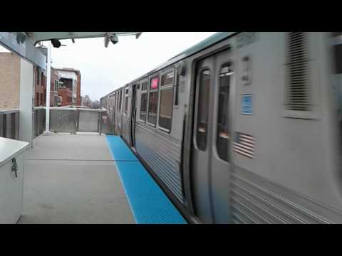 CTA Pink Line Entering Morgan