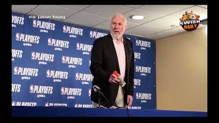 Gregg Popovich upset on the Gatorade bottle & Danny Green's height after Game 1 loss