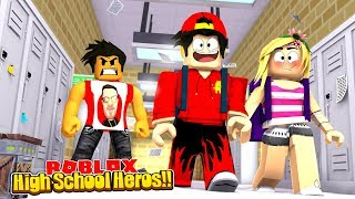 ROBLOX - HIGH SCHOOL - ROPO STEALS DONUTS GIRL!!