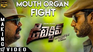 Detective Mouth Organ Fight Making | Vishal, Prasanna, Andrea, Anu Emmanuel | Mysskin