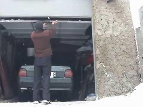самодельные подъёмные гаражные ворота и чертежи