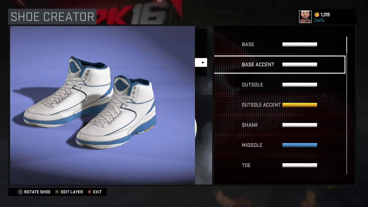 buy popular 77e28 8ab80 NBA 2K16 Shoe Creator - Air Jordan 2 PE