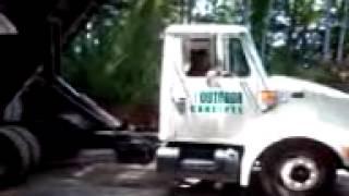 Dump truck flip