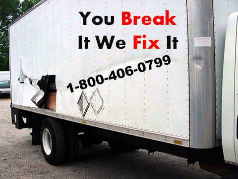 body shop  1-800-406-0799 cargo truck commercial  Trailer cabin repairs dry freight body box truck