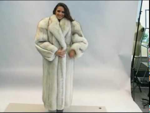 Amazing Blue fox coat - YouTube