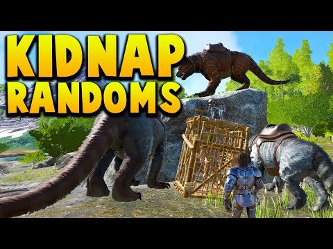KIDNAPPING A RANDOM PERSON! - Ark Survival Evolved Island No Fliers PVP #15