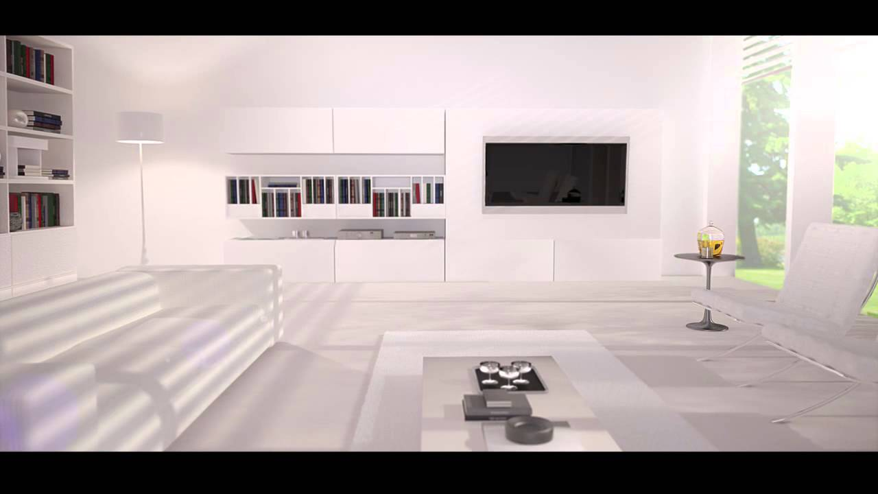 3d living room cinema 4d vray youtube for Living room cinema 4d