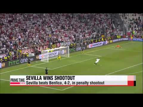 World football: sevilla beats benfica to win europa league title