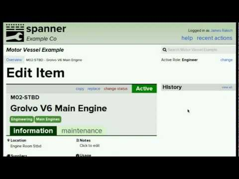 Spanner Planned Maintenance System - Introduction