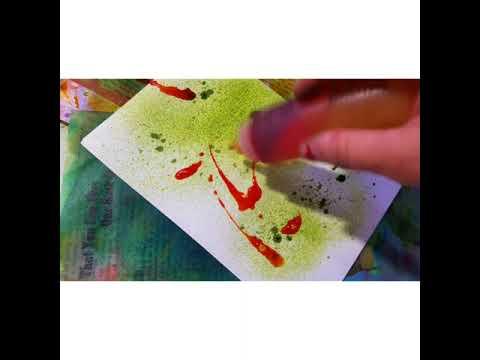 Tie Dye Sprayed Papers