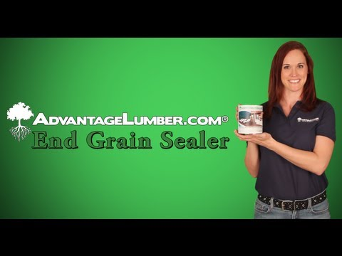 End Grain Sealer for Wood Decking & Lumber