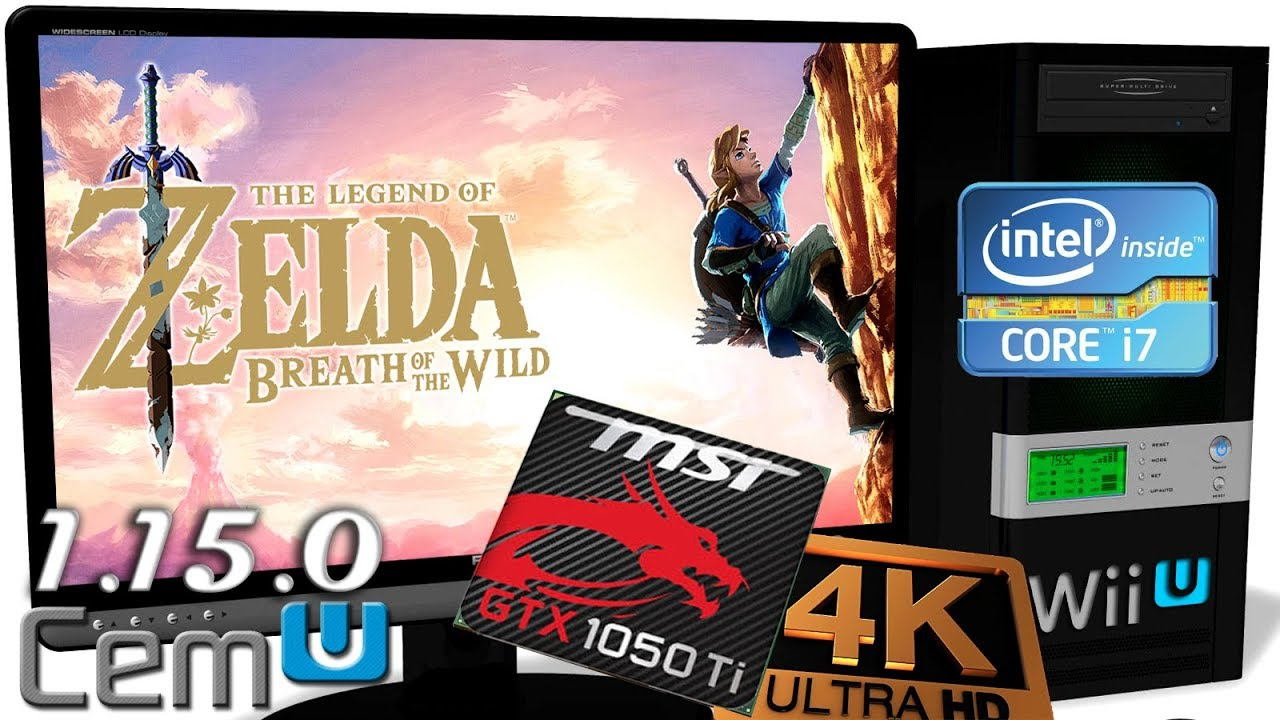 CEMU 1 15 0 [Wii U] - Zelda: BOTW on GTX1050Ti [720p`1080p`1440p`2160p 4K]  GPU Tests #3 by Emulators for PC