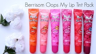 Provided for Review: Berrisom Oops My Lip Tint Pack