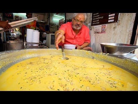 LASSI KING of INDIA | Indian Street Food Tour in Jaipur, India - BEST Street Food in India + CURRY