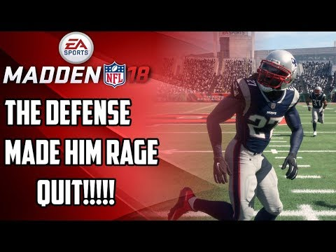 THE DEFENSE MADE HIM DO IT!!!!!!!! RAGE QUIT!!!!!!! - MADDEN NFL 18 ULTIMATE TEAM GAMEPLAY
