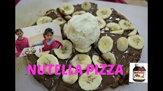 The easiest Nutella Pizza Recipe with Hanna and Mia