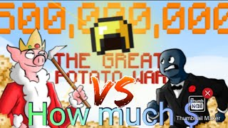 How much Money did Technoblade and Squid Kid make in The Great Potato War in Hypixel Skyblock?!