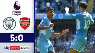 City verdirbt Leno Jubiläum | Manchester City - FC Arsenal | Highlights - Premier League 2021/22