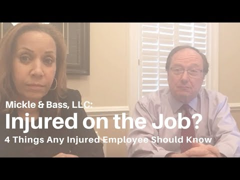 Injured On The Job? The 4 Things Any Injured Employee Should Know