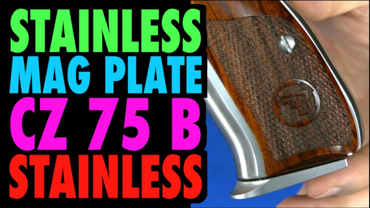 CZ 75B Stainless Extended Magazine Plate