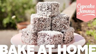 Super Easy, Ridiculously Tasty Lamingtons Recipe! | Bake at Home | Cupcake Jemma
