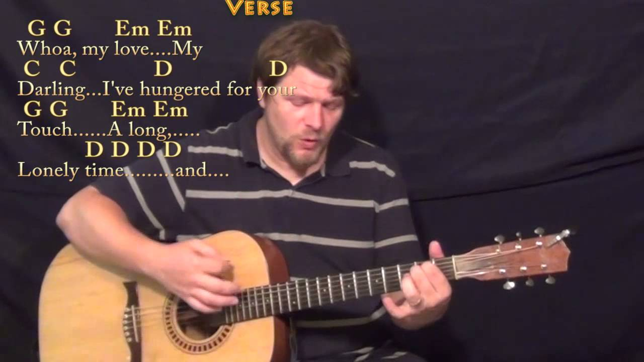 Unchained Melody Strum Guitar Cover Lesson In G With Chordslyrics