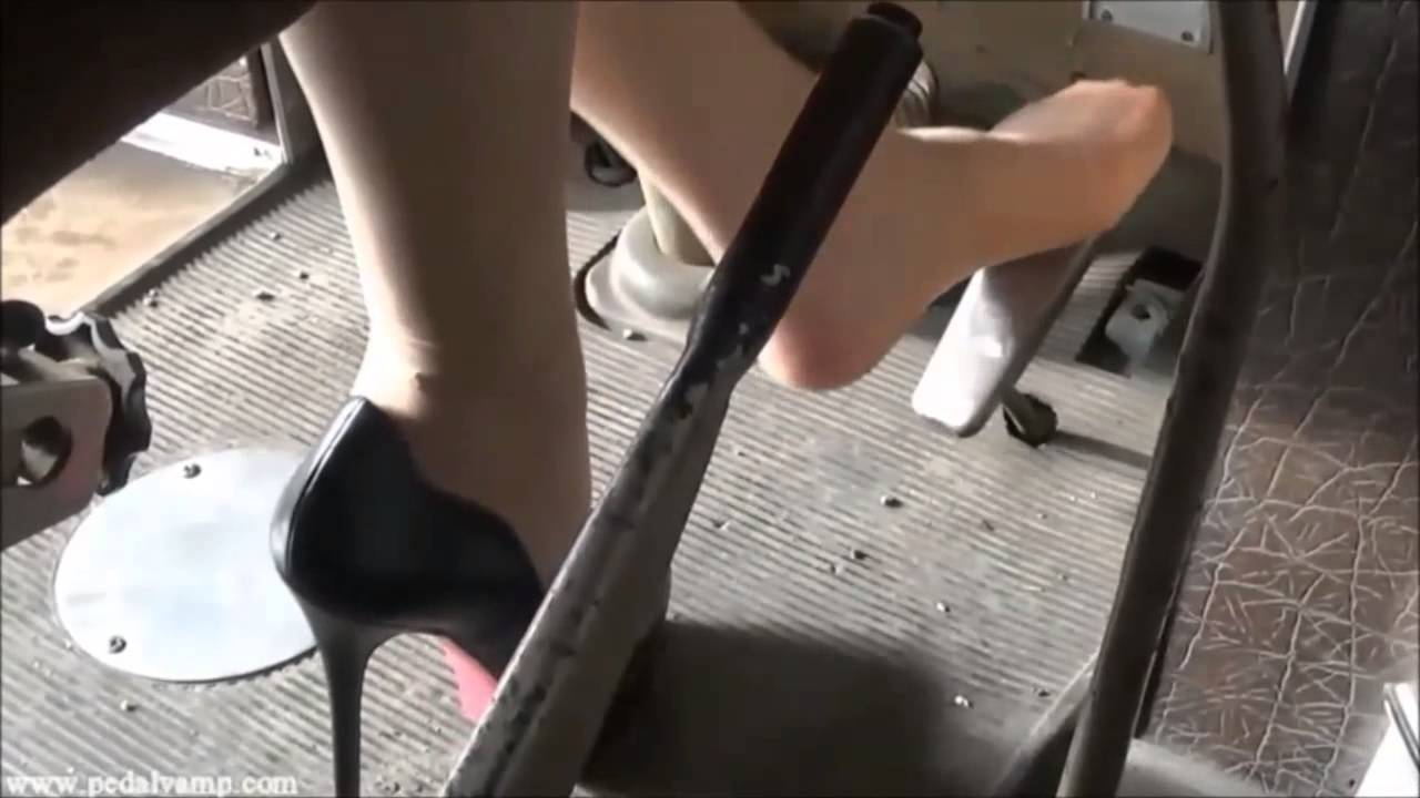 Candid feet shoeplay in nylons at conference - 2 part 1