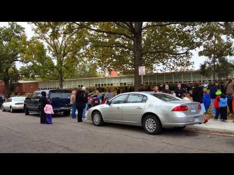 Stout elementary school Halloween parade