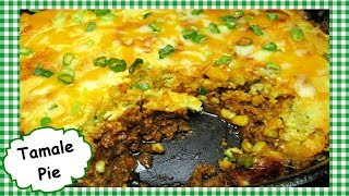 Tex Mex Tamale Pie with Jiffy ~ Easy One Pot Tamale Pie Recipe