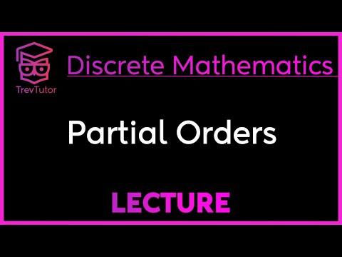 [Discrete Math 1] Partial Orders