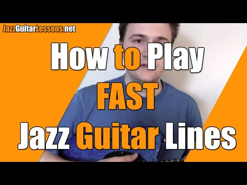 How to Play FAST Jazz Guitar Lines - Double-Time Improvisation - Exercises with Metronome 2&4
