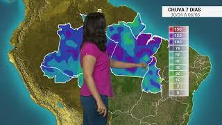 Confira o acumulado de chuva no Brasil nos próximos dias