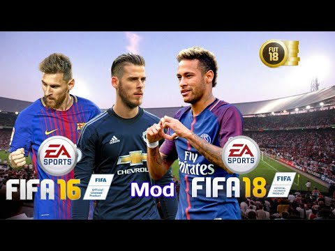 FIFA 16 Mod FIFA 18 Android Best Graphics Real Face 1.5 GB Online