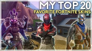 My Top 20 Favorite Skins in Fortnite (Fortnite Battle Royale)