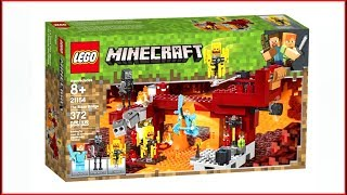 LEGO MINECRAFT 21154 The Blaze Bridge - UNBOXING Speed Build