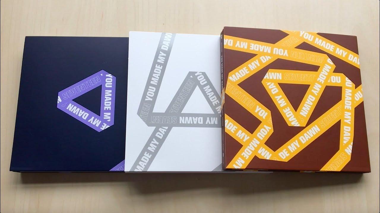 ♡Unboxing Seventeen 세븐틴 6th Mini Album You Made My Dawn (Before Dawn, Dawn  & Eternal Sunshine Ver )♡