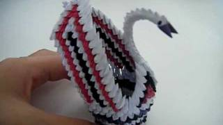3d Origami Mini Swan With Wings