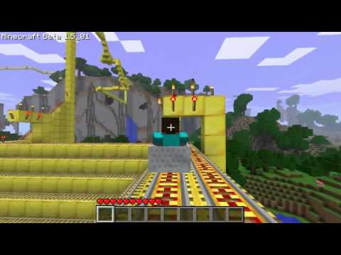 Minecraft Roller coaster of happiness and DEATH