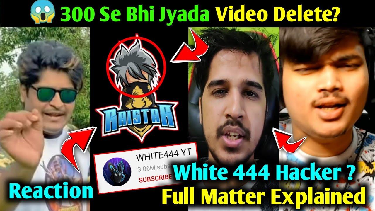 White 444 Hacker Full Matter Explained, Gyan Gaming, Raistar & Desi Gamer React White 444 Hack 😱