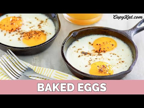 "Baked or ""Shirred"" Eggs - Learn to Cook - YouTube"