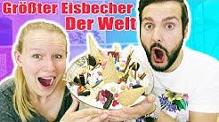 GRÖßTER EISBECHER DER WELT Challenge mit Kathi + Kaan! ZU VIEL EIS! Ice Cream Sundae Challenge