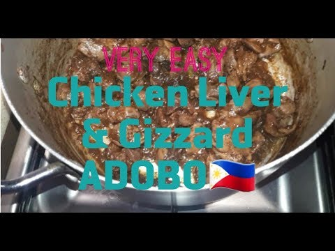 Chicken Adobo Liver and Gizzard easy to cook