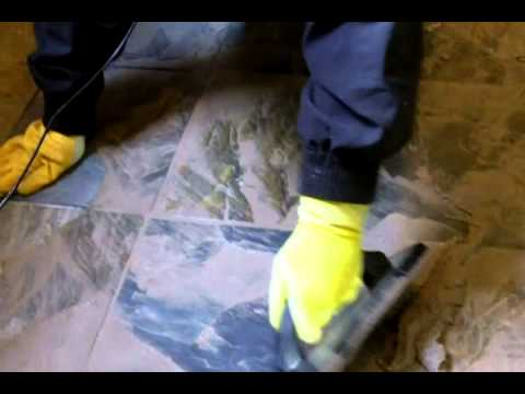 How to Grout Slate Tile - YouTube