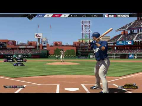 MLB 10: The Show - Dodgers at Phillies Gameplay