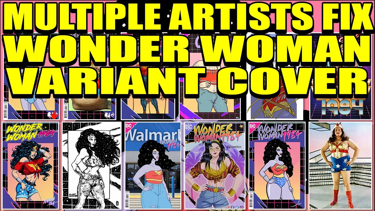 Wonder Woman 1984 Variant Cover FIXED by Other Artist | DC Comics