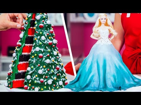 holiday-barbie-doll-cake-&-more-christmas-baking-ideas-|-how-to-cake-it-step-by-step