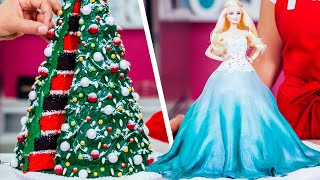 Holiday Barbie Doll CAKE & More Christmas Baking Ideas | How To Cake It Step By Step
