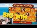 BIG WIN!!! Captain Venture BIG WIN - Bonus round - free spins (Online slots)