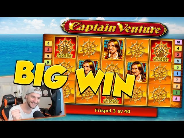 BIG WIN!!! Captain Venture BIG WIN - Bonus round - free spins (Online slots)